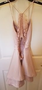 Sequin Hearts Dresses - Very light pink homecoming dress